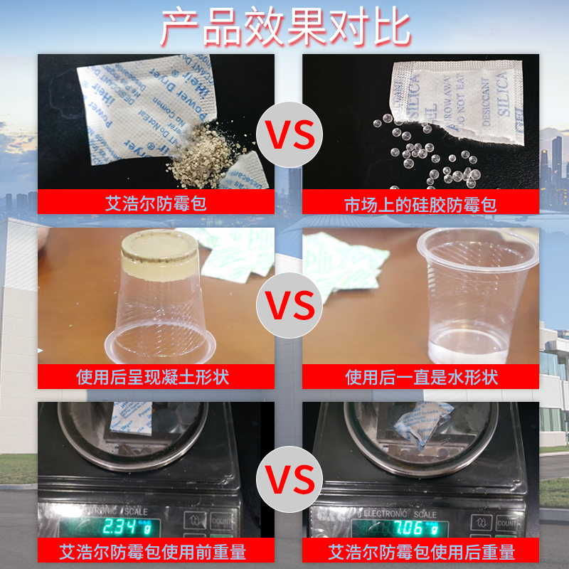 普通干燥剂与艾浩尔防霉包/防霉干燥包区别-抗菌剂 干燥剂-塑料防霉剂供应厂家